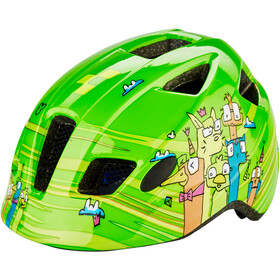 Cube Pebble Casque Enfant, green friends